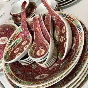 Chinese Longevity Dinnerware